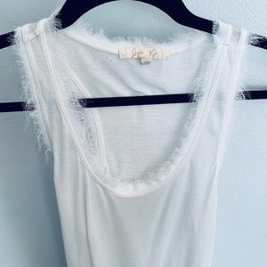 Joie Off White Racerback Tank Top - S